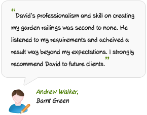David Franklin testimonial from client Andy Walker.